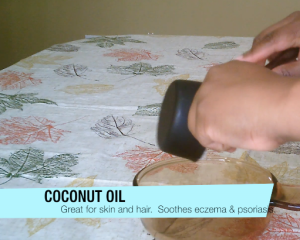 One cup of coconut oil.